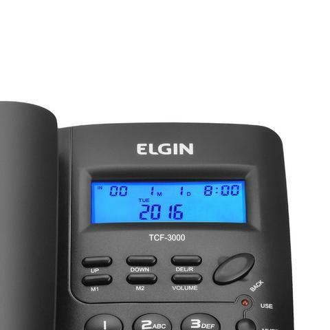 Telefone com Fio Elgin - Identificador De Chamadas [NOVO] - Foto 3