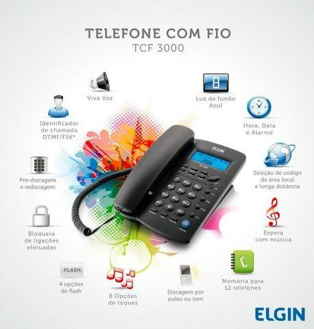 Telefone com Fio Elgin - Identificador De Chamadas [NOVO] - Foto 4