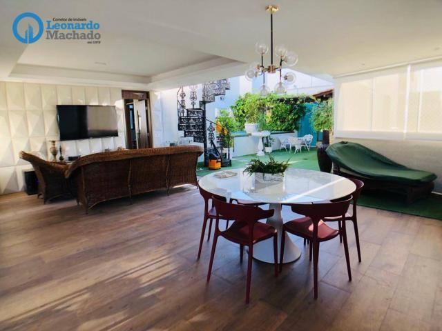 Apartamento Cobertura com 4 dormitórios à venda, 346 m² por R$ 2.500.000 - Meireles - Fort - Foto 6