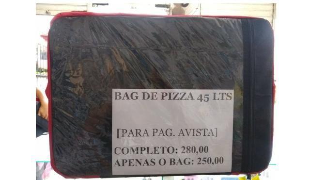 Mochila bag de Pizza e Marmita 45 litros [entregamos grátis]