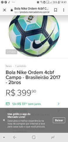 2f54c1fca51e3 Bola nike brasileirão 2017 original