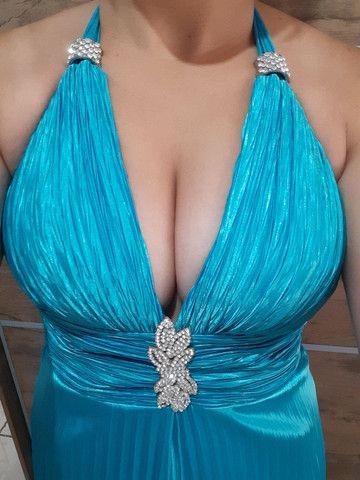 Vestido de festa plissado em cetim - Foto 2