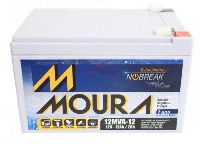 Bateria moura 12v 12ah - Foto 2