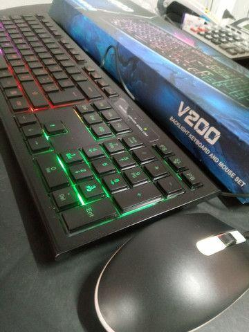 Teclado Gamer com Mouse - Foto 3