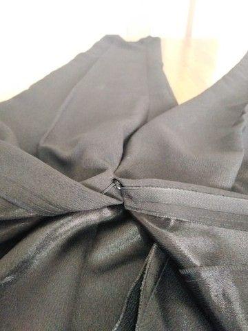 Calça feminina preta em crepe - Foto 4