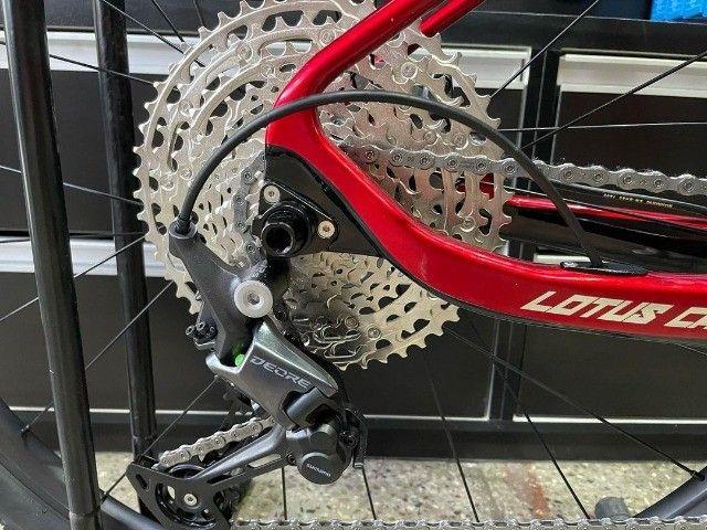 Bicicleta aro 29 Lotus Carbon 2021 nova NF e garantia - Foto 5