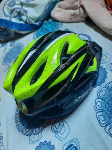 Capacete de ciclismo usado poucas vezes  - Foto 3