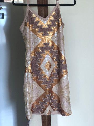 Vestido festa bordado com etiqueta