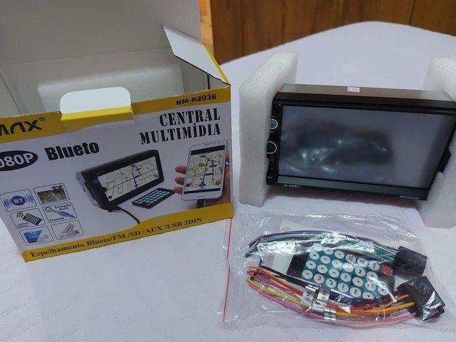 Multimídia com sensor de câmera de ré - Foto 3