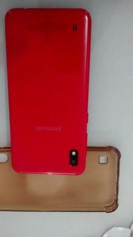 Samsung Galaxy A 10 vermelho pra vender logo