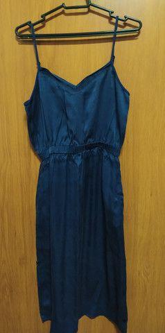 Vendo vestido azul marinho (em estado de novo)