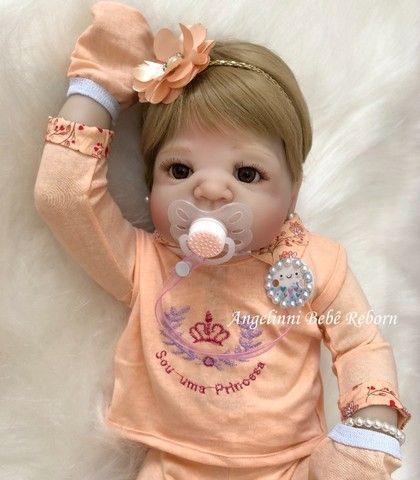 Bebê Reborn Viviane Silicone Pronto Envio! Com Enxoval