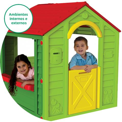 Casinha Holiday - Casa infantil - Playground - UV - Inmetro