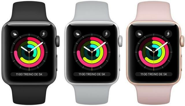 502c5aca158 Apple Watch Series 3 42mm Gps Prova D´água- preto
