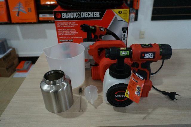 Pistola de Pintura e Pulverização 320W bdph400- Black & Decker 220v - Foto 4