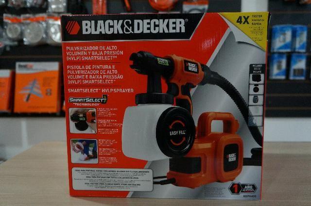 Pistola de Pintura e Pulverização 320W bdph400- Black & Decker 220v - Foto 3