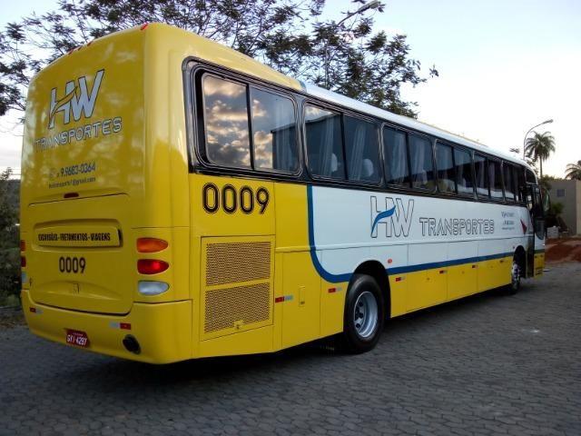 Ônibus rodoviário Comil 3.45 motor Mercedes O400 eletrônico ano 2000 46 lugares soft - Foto 6