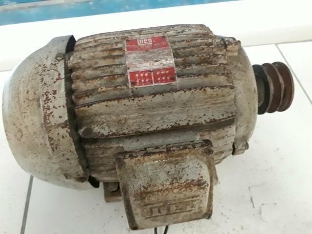 2 Motor 5cv 4 Pólos Trifásico Blindado Baixa Rotação 1740 Rpm