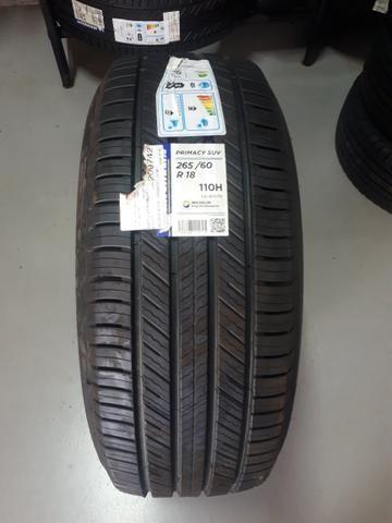 Vendo 04 pneus 265/60 R 18 Michelin Primacy SUV novos sem uso - Foto 2