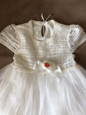 Vestido de festa bebê menina 6 meses - Foto 2