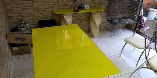 Envelopamento em mesas de vidro em ipatinga - Foto 3
