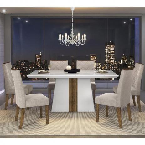 Mesa italia com 6 cadeiras