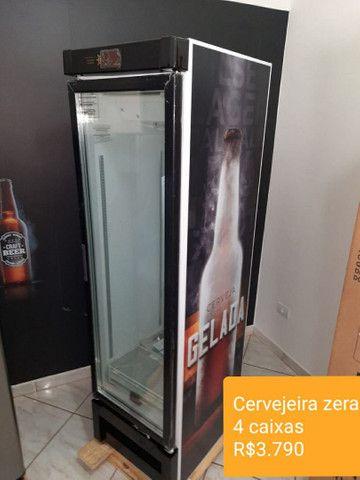 Cervejeira slim porta vidro zera nota fiscal garantia de fábrica