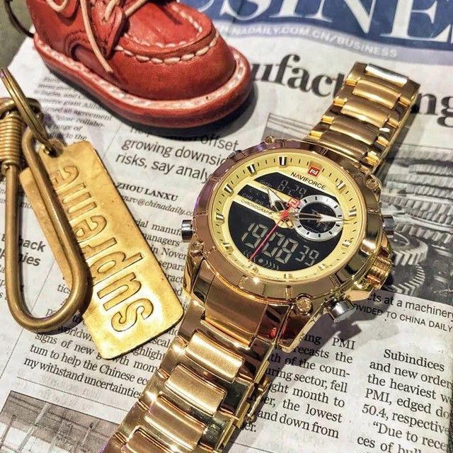 Relógio másculo casual Naviforce - NOVO (100% Funcional) - Foto 3