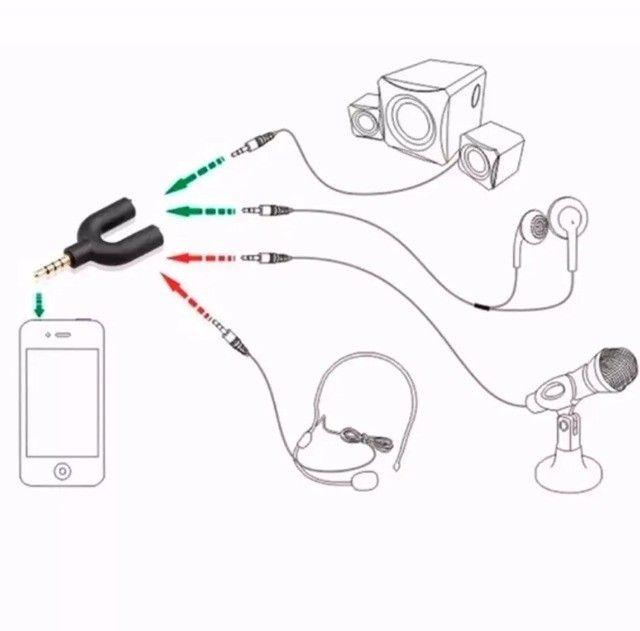 Adaptador Fone Headset Microfone Lapela P2 X P3 Notebook Pc - Foto 5