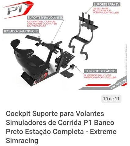 Cockpit extreme p1 estação completA com suporte articulado - Foto 5