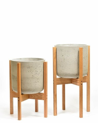 suporte vaso de planta new wood gold - Foto 3
