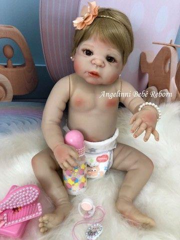 Bebê Reborn Viviane Silicone Pronto Envio! Com Enxoval - Foto 3