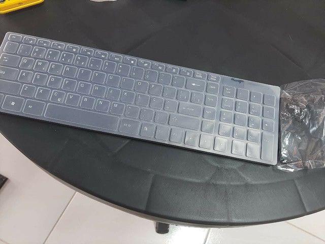 Teclado Wireless com Mouse - Foto 2