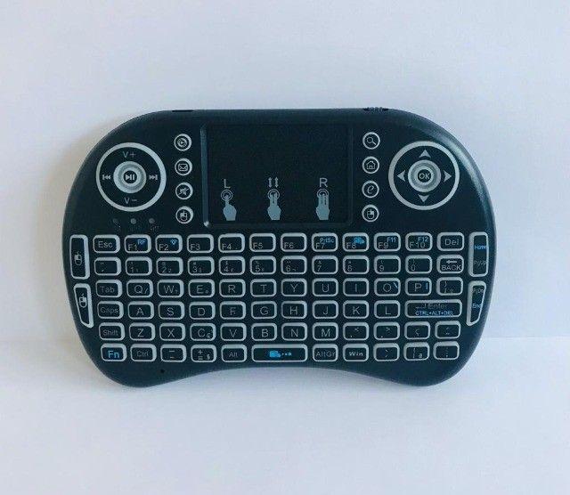 Controle Para Smart Tv Pc Notebook Teclado Bluetooth De Led - Foto 4