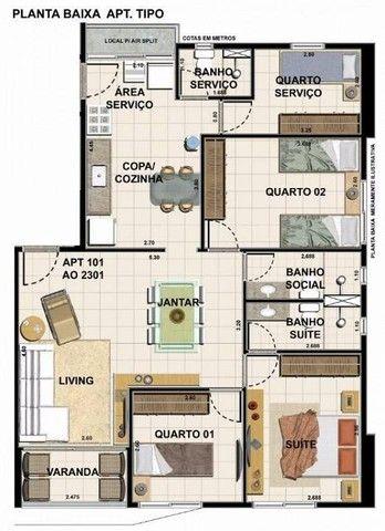 Apartamento com 3 quartos (1 suíte) à venda, 86 m² por R$ 776.000 - Pina - Recife/PE - Foto 8