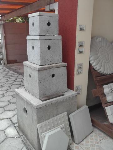 Caixas de concreto para elétrica ou esgoto. ( de passagem, de gordura)