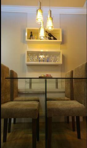 Apartamento semi-mobiliado com móveis projetados - Nova Parnamirim