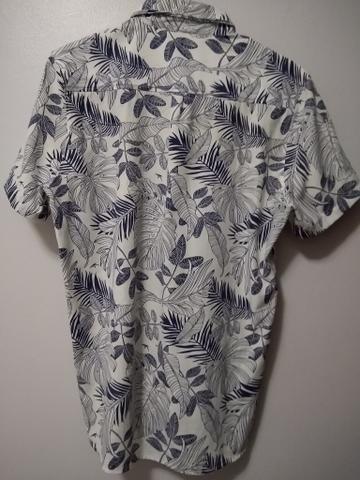 Camisa Maresia Havaiana com detalhe em couro - Foto 3