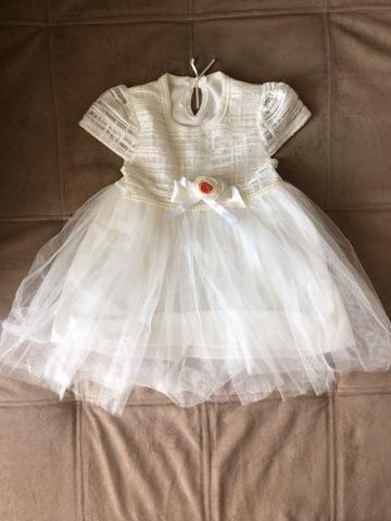 Vestido de festa bebê menina 6 meses