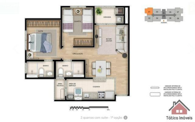 Maravilhoso Apartamento no Ecoville 2 Dormitórios - Foto 6
