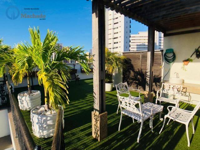 Apartamento Cobertura com 4 dormitórios à venda, 346 m² por R$ 2.500.000 - Meireles - Fort - Foto 3
