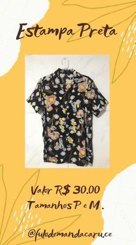 Camisa de Botão R$30 P/M/G - Foto 6