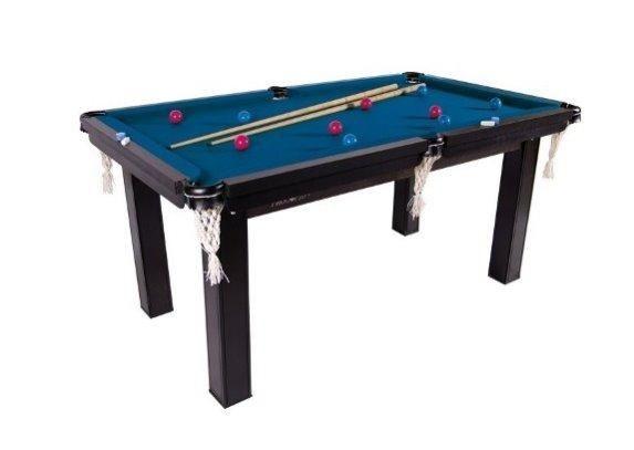 Mesa Sinuca / Bilhar / Snooker 1,87 X 1,08 Tecido Vinho , Verde , Azul e Preto Mdf - Foto 4