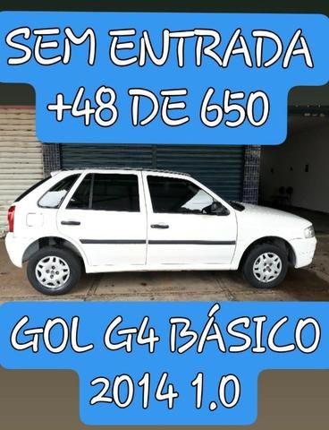 Gol G4 2014 Básico S/ entrada + 48 de 650
