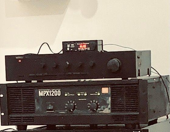 Amplificador potência jbl mpx 1200