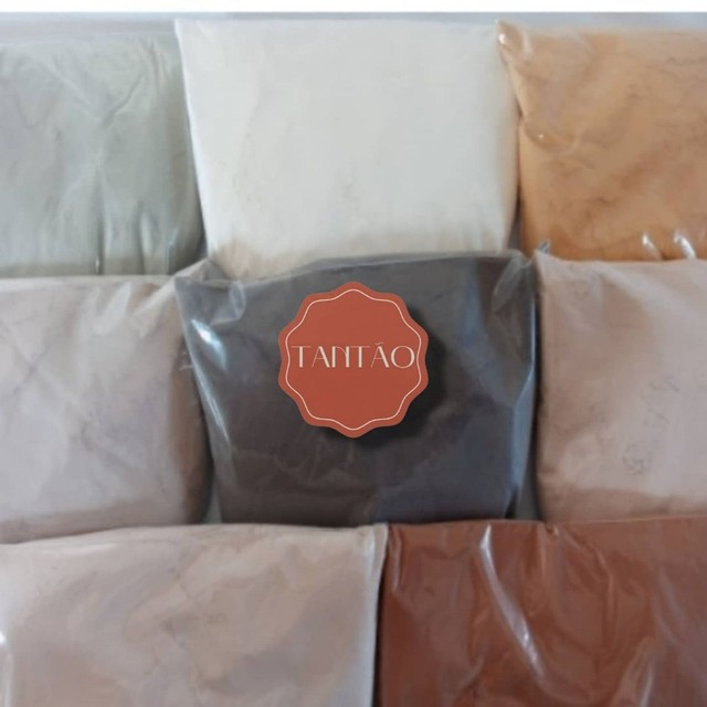Argila Preta, Branca, Verde, Rosa, Amarela, Vermelha, Marrom, Cinza 100g  - Foto 2