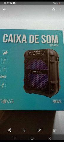 Caixa de som conexão  Bluetooth  Pen  drive  karaoke  alta qualidade  - Foto 2
