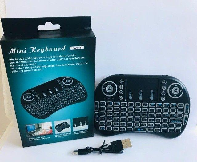 Controle Para Smart Tv Pc Notebook Teclado Bluetooth De Led - Foto 2