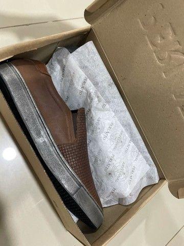 Sapatênis em couro da marca Perlatto TAM 43 - Foto 3