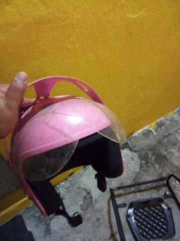 Protetor de carenagem da pop traseiro e capacete